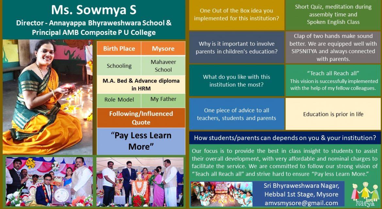Ms. Sowmya S
