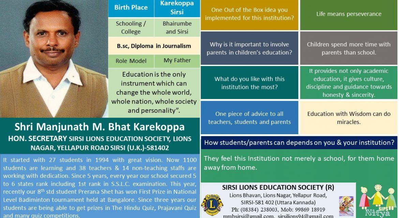 Shri Manjunath M. Bhat Karekoppa